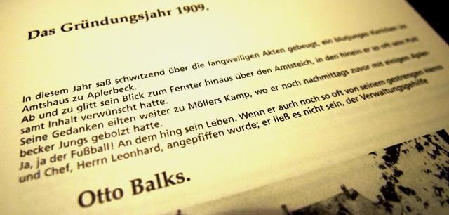 Im Alter von 17 Jahren gründete Otto Balks, ein Schwerter übrigens, mit elf Mitstreitern, allesamt noch 16 Jahre jung, den ASC 09
