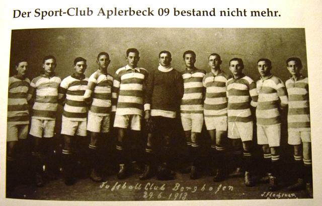 Anno 1913. Otto Balks ging zurück nach Schwerte, die meisten Mitspieler gründeten den Sport-Club Berghofen. Der ASC 09 war vorübergehend Geschichte.