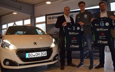 Dankeschön an das AUTOHAUS PFLANZ: Bufdi Tim fährt jetzt Peugeot 208