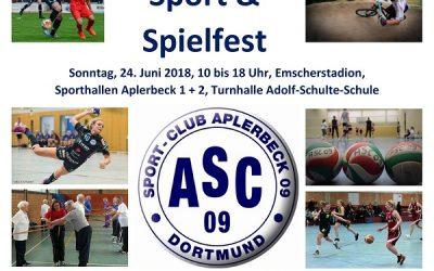 Sportfest und Sponsorenlauf am 24.06. im Emscherstadion