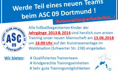 Werde Teil eines neuen Teams – Einladung an Kinder der Jahrgänge 2013 & 2014