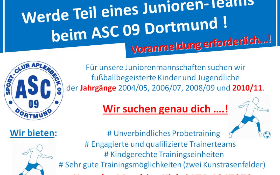 Werde Teil eines Juniorenteams beim ASC 09 Dortmund