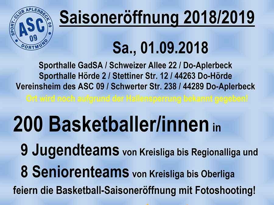 Basketball Saisoneröffnung 1.9.2018