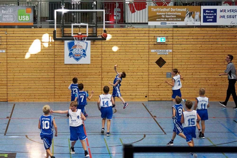 Basketball U12m siegt mit Minimalbesetzung gegen die AstroStars