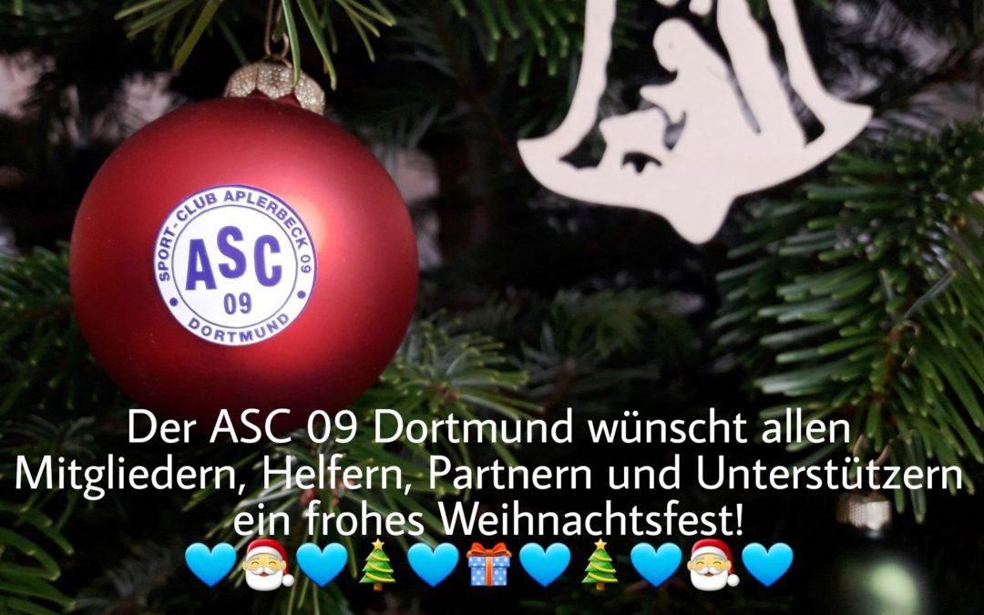 Grußwort des Vorstands: Der ASC 09 wünscht frohe Weihnachten und alles Gute für 2019!
