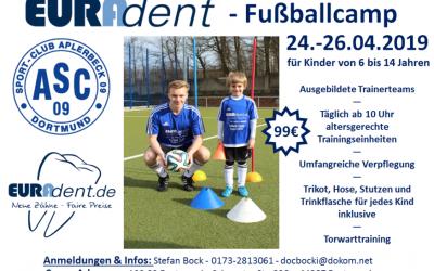 EURADENT-Fußballcamp – Freie Plätze für Kurzentschlossene !!!