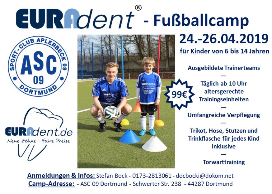 EURADENT-Fußballcamp – Anmeldungen ab sofort möglich!