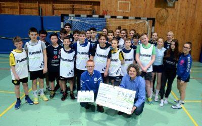 """Stiftung """"ProFiliis"""" unterstützt ASC 09-Handballer mit 3.100 Euro"""