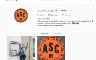ASC-Basketball jetzt auch bei Instagram