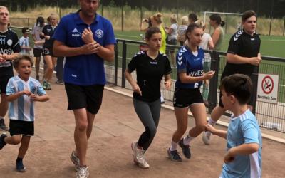 Sponsorenlauf 2019 – Juniorenfußballer im Einsatz