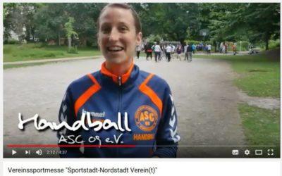 "VIDEO: ASC 09-Handballer unterstützen ""Nordstadt Verein(t)"""