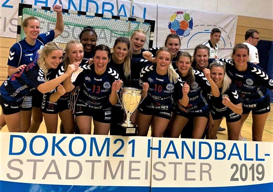 DOKOM21-Stadtmeisterschaft: Handball-Damen holen nullneunten Titel in Folge