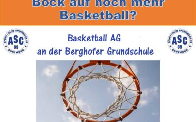 Neues ASC-Angebot: Basketball AG an der Berghofer Grundschule