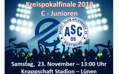 Kreispokalfinale der C-Junioren – ASC 09 trifft im Finale auf den TSC Eintracht