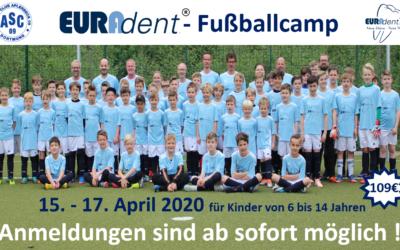 7. Euradent-Fußballcamp – Anmeldungen ab sofort möglich