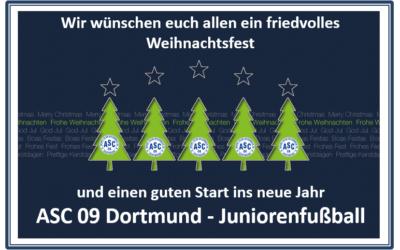 Frohe Weihnachten wünschen die Fußballjunioren des ASC 09 Dortmund