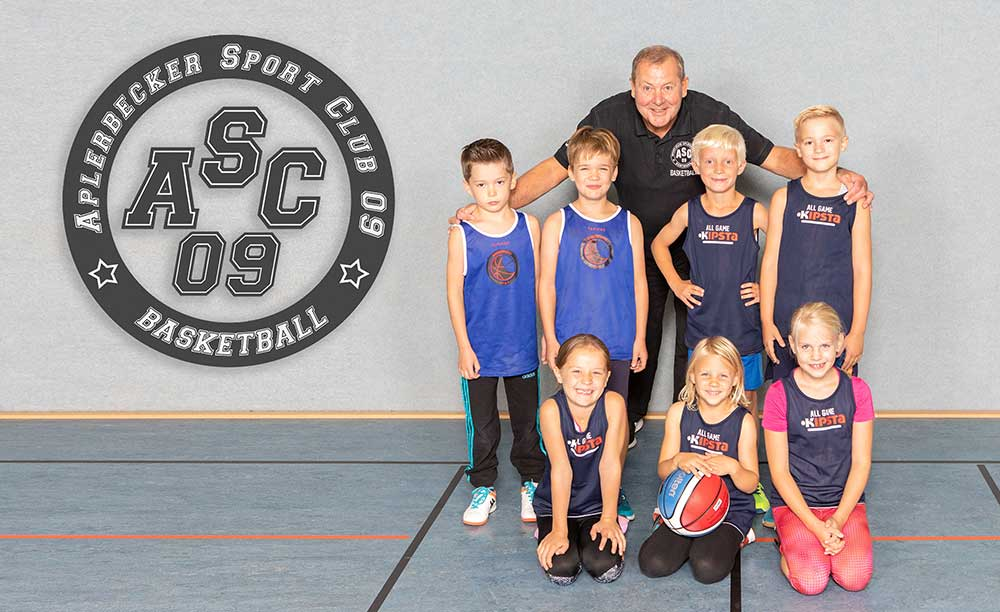 ASC Kinder zum Minifestival des TSV Quakenbrück (Kooperationspartner des Rasta Vechta BBL)