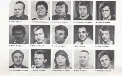 Blick in die Vergangenheit – frühe 70er-Jahre – Vorstandsteam und Trainerkader