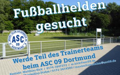 Fussballhelden gesucht – Werde Teil des Trainerteams beim ASC 09 Dortmund-Juniorenfußball