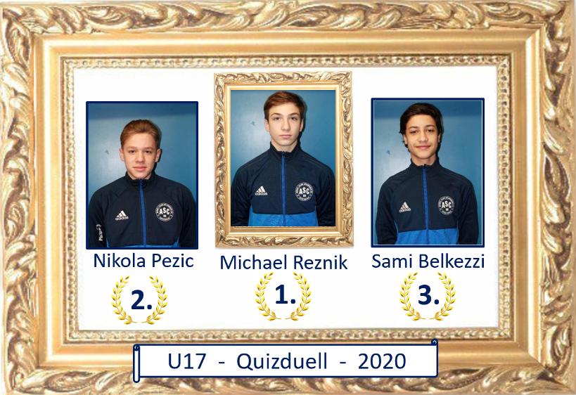 U17-Quizduell – Michael Reznik holt den Titel !!