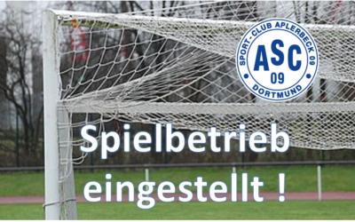 Entscheidung des FLVW – Kompletter Spielbetrieb aller Fußballmannschaften ruht bis einschließlich 19. April 2020