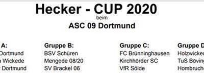 Spielplan Hecker Cup 2020!