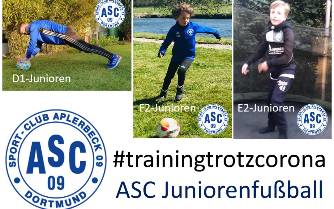 Training trotz Corona – ASC Junioren im Individualtraining