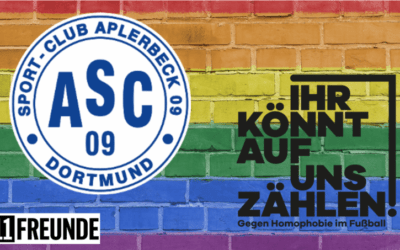 #IhrKönntAufUnsZählen – ASC 09 UNTERSTÜTZT 11FREUNDE-INITIATIVE GEGEN HOMOPHOBIE