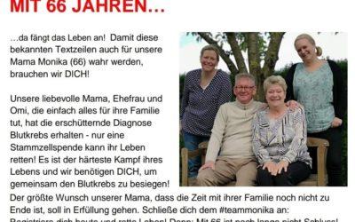 Stäbchen rein – Spender sein: Wir helfen (nicht nur) Monika!