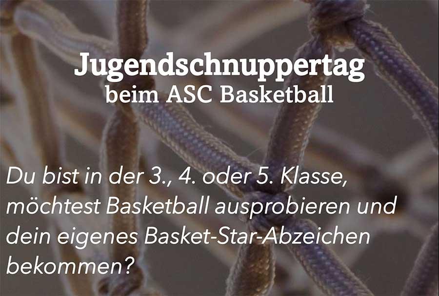 Jugendschnuppertag Basketball
