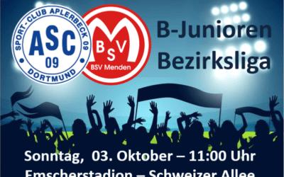 Bezirksliga -Spitzenspiel – B1-Junioren empfangen den BSV Menden